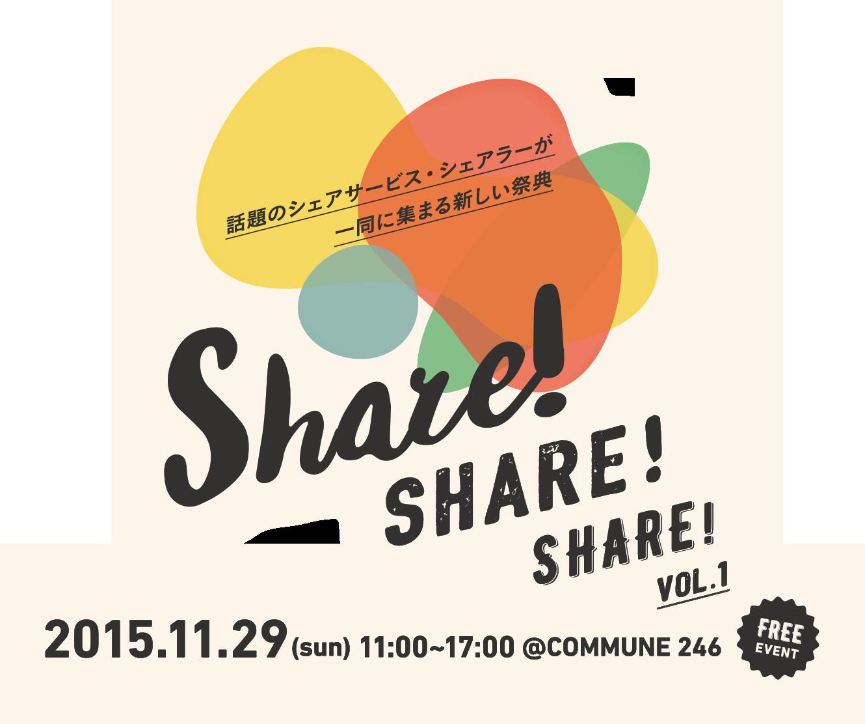 【11.29(sun) 11:00〜】話題のシェアリングサービス&ユーザーが一同に集結するイベント、COMMUNE246にて開催決定!