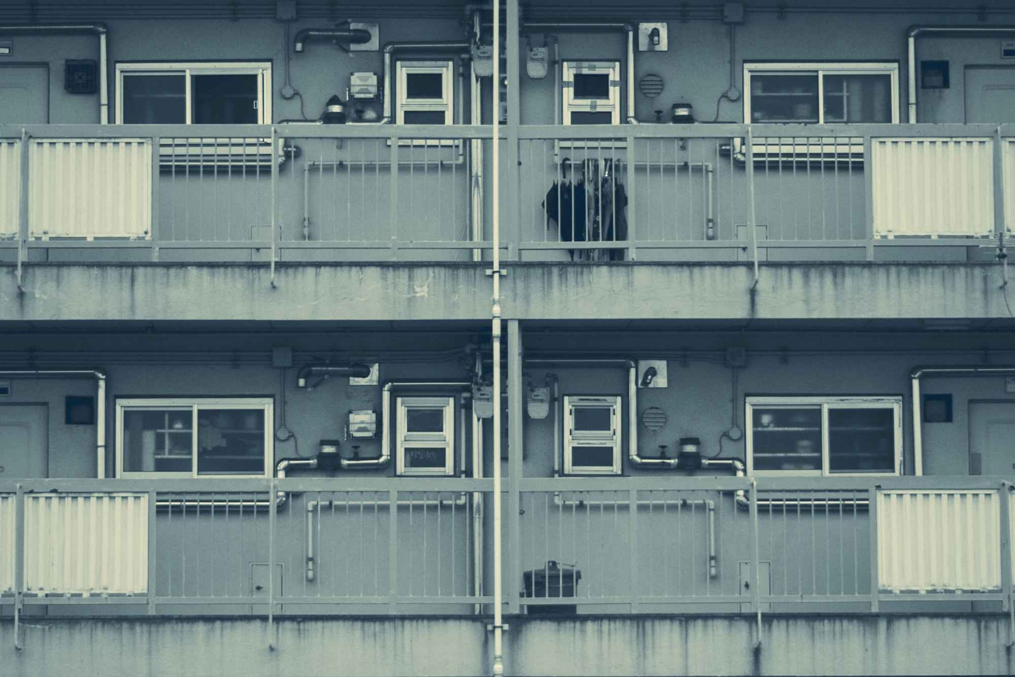 """Apartments in Japan"" by Richard, color modified ( https://www.flickr.com/richard777/ )"