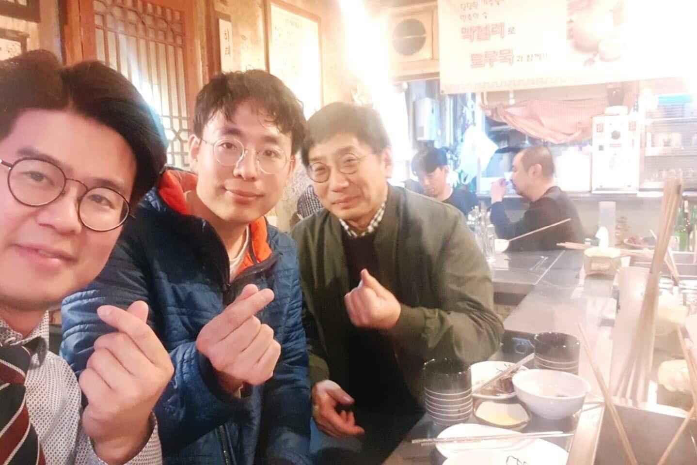Hwanhyo Parkさんとホームシェアリング、パーキングシェアリング会社のCEOとの食事会